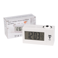 Minimalist Smart Alarm Clock LED Electronic Clock Weather Forecast Projection Clock Snooze Alarm 8 Language Clock