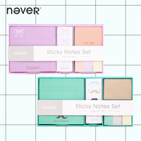 Never Creative Sticky Notes And Memo Pads Set Post It Message Tag Fashion Color Business Office