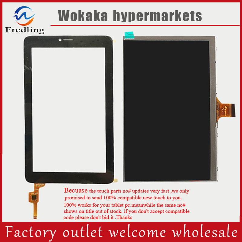 Touch Panel+Lcd display For ALCATEL ONE TOUCH PIXI 3 (7) 3G 9002x 9002a Capacitive Touch Screen Panel Digitizer tablet new touch screen lcd display for 7 alcatel one touch pixi 3 7 0 9002x 3g tablet digitizer glass replacement panel sensor