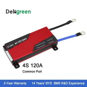 Deligreen 4S 120a 12 v pcm pwb bms para lifepo4 bateria bloco 18650 lithion ion bateria