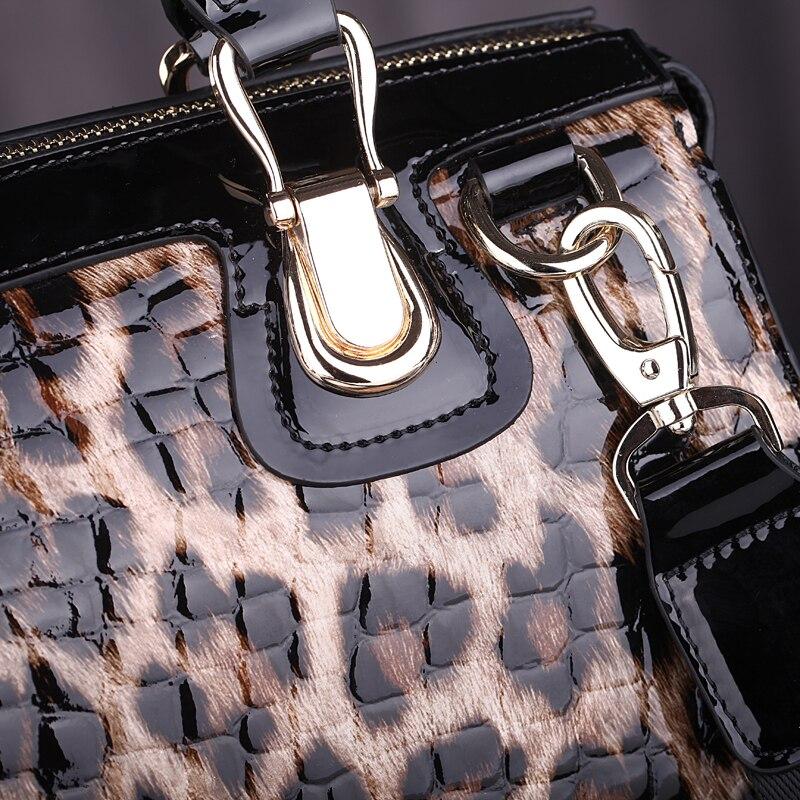 Image 5 - ファッションヒョウ柄革女性ハンドバッグバッグ牛革ビッグトートバッグレディースショルダーバッグ女性のメッセンジャーバッグ〜  13B316    グループ上の スーツケース