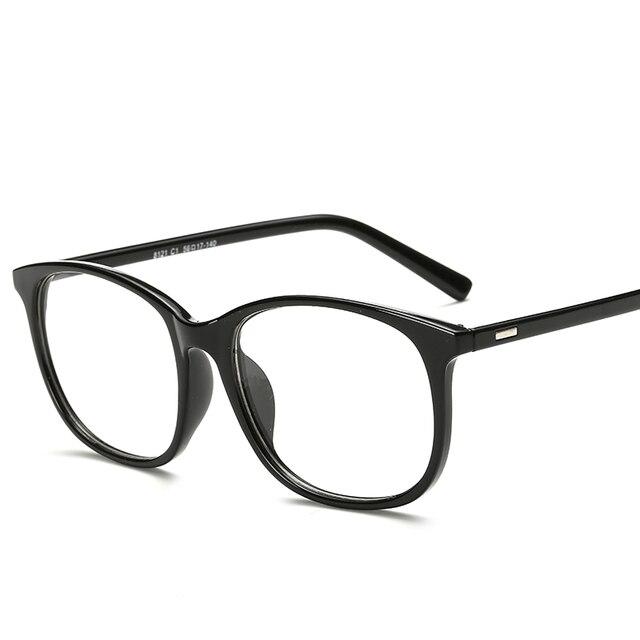 43b9580b6f Korean Round Oversized Eyeglasses Frames Clear Lens Fake Optical Glasses  Leopard Vintage Eyewear Spectacle Frames For Women Men