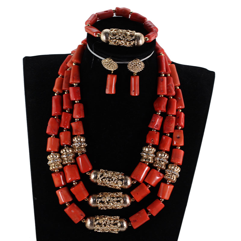 HTB14qW5djfguuRjSspaq6yXVXXaU Big Real Coral Bead Traditional Nigerian Wedding African Coral Beads Jewelry Set Women Party Anniversary Gift Jewelry CNR885
