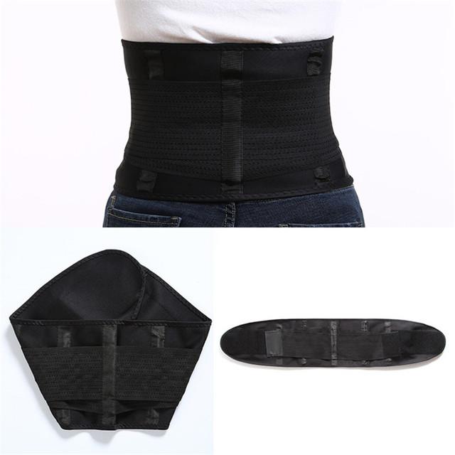 Slimming Belts Sweat Band Waist Trainer Corsets Body Shaper Girdles Men Women Waist Support Belly Trimmer Fajas Reductoras 3