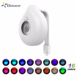 16 Colors Toilet Night Light Smart PIR Body Motion Sensor LED Toilet Seat Lamp Motion Activated Toilet bathroom Bowl Night lamp