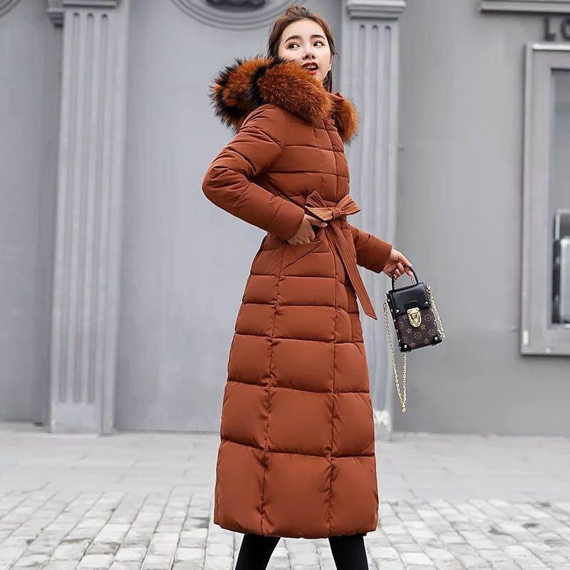 in Colletto donna moda pelliccia inverno Qihuang OlkXiZPuwT
