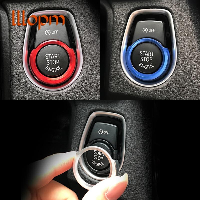 Fit for BMW F20 F30 316i 320i 328i aluminum dedicated a key start button decorative circle ignition coils Stickers Car styling полуось на bmw 316i в беларуси