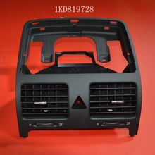 The new Black OEM Front Dashboards Central Air Outlet Vent For VW Golf Jetta MK5 Rabbit 1KD 819 728 1KD819728 1K0 819 728