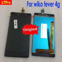 LTPro Original New Black For Wiko Fever 4G LCD Display + Touch Screen Digitizer Assembly For Wiko Mobile Phone parts