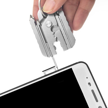 цена на Multi-tool Pliers Travel Tool Keychain Combination EDC Tool Folding Pliers 15 in 1 Screwdriver Multi Tools
