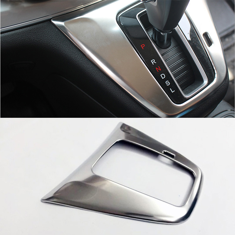 For Honda CRV CR-V 2012 2013 2014 2015 2016 Stainless Steel Car Interior AT Gear Box Knob Shift Panel Trim Cover Decoration 1Pcs цена