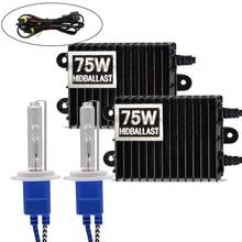 Niscarda H1 H3 H4 H11 9006 75W 4300K 6000K 8000K Ballast HID Xenon Kit 12V Car Light Headlight 9005