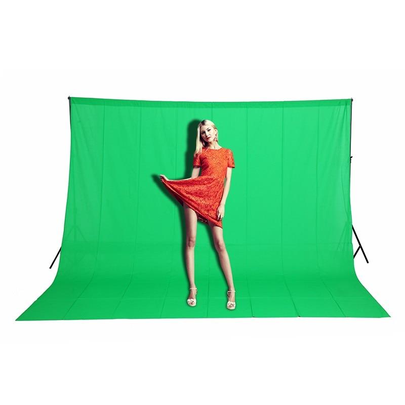 En stock 3x3 m Solide couleur Milieux Vert écran coton Muslin backdrop Photographie éclairage studio Chromakey CD15