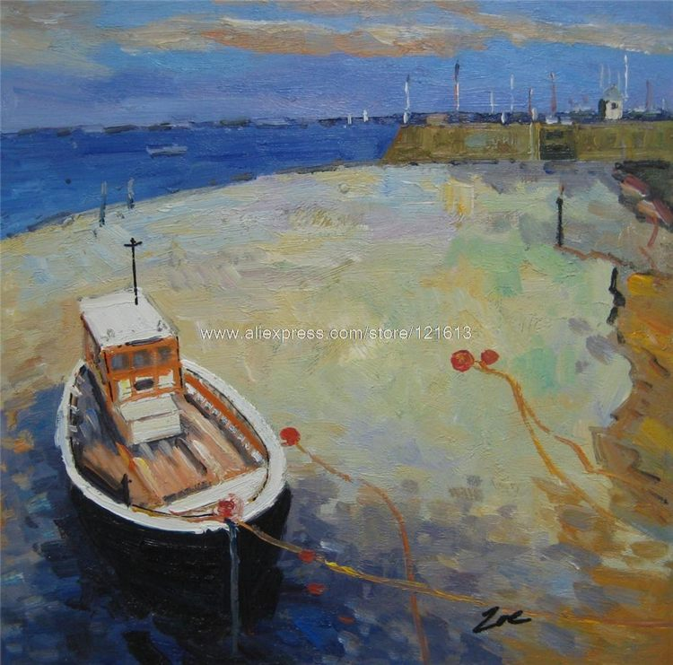 Online get cheap fishing boats paintings for Fishing boat painting