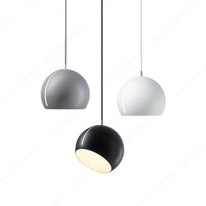 Image 1 - BDBQBL półkula wisiorek światła postmodernizm europa północna wisiorek LED lampa AC 90 260V sypialnia salon badania Hanglamp