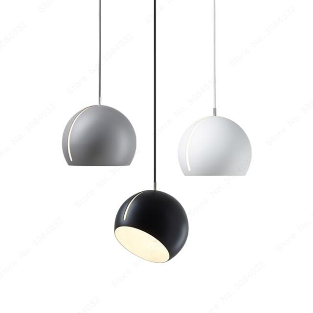 BDBQBL półkula wisiorek światła postmodernizm europa północna wisiorek LED lampa AC 90 260V sypialnia salon badania Hanglamp
