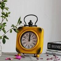 Vintage Exquisite Desktop Clock Home Decoration Retro relogio de mesa retro Living Room Cool Electronic Desk Clock masa saati
