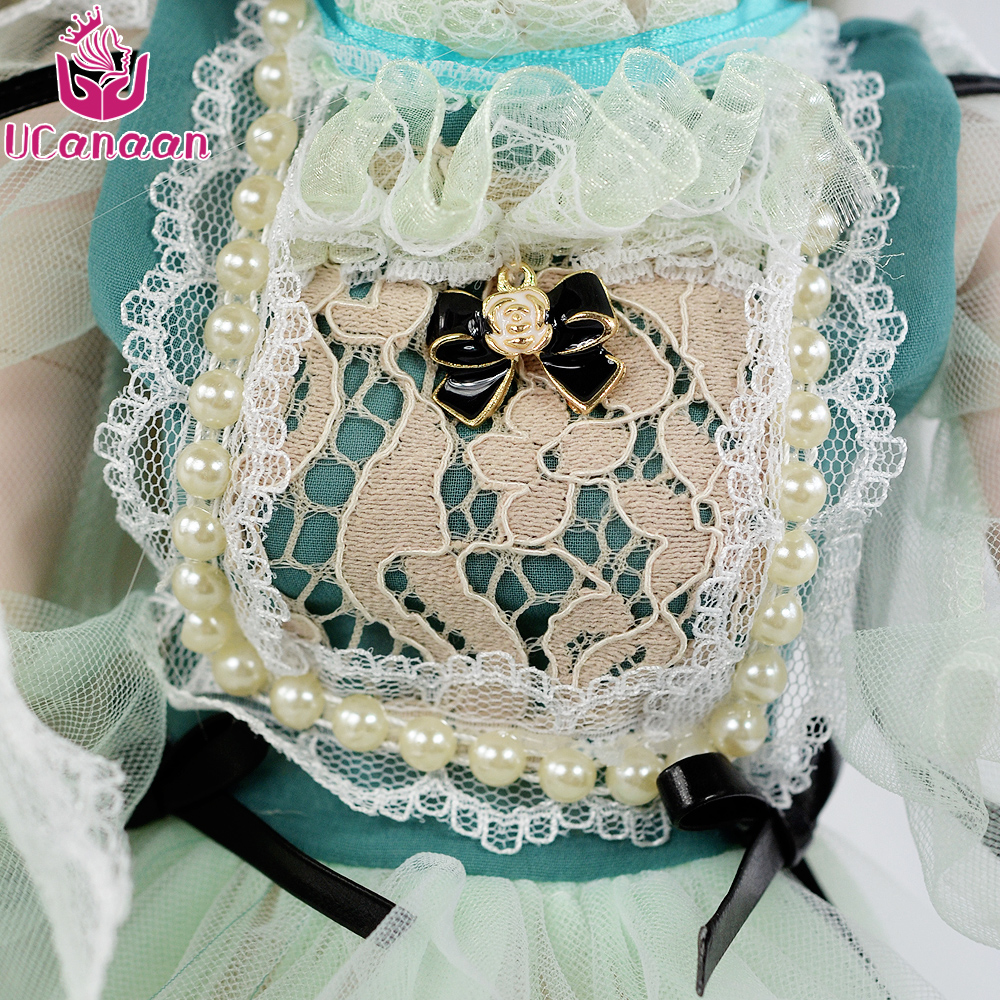 UCanaan 1/3 BJD Doll Accessories bjd Clothes Blue Bow Dress Chinese Style Clothes Set Cute Girls Mini Clothing For 60cm Dolls 4