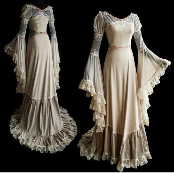 Sexy Women Luxury 18th Century Medieval Style Floor Length Renaissance Princess Dress S-2XL