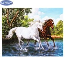 Full square drill 5D diamond painting horse animal DIY diamond embroidery forest Cross Stitch Rhinestone mosaic home decoration
