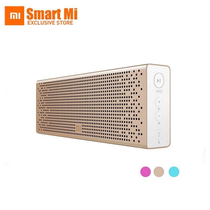 Original Xiao mi haut-parleur Bluetooth sans fil stéréo mi ni lecteur MP3 Portable de poche Support Audio mains libres appel carte TF AUX-in