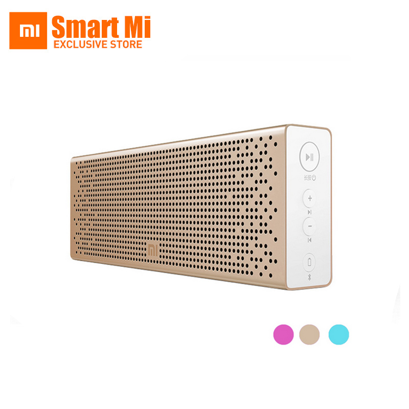 Original Xiaomi Mi Bluetooth Speaker Wireless Stereo Mini Portable MP3 Player Pocket Audio Support Handsfree Call TF Card AUX-in original xiaomi mi bluetooth speaker metal square box mini wireless stereo portable mp3 player handsfree bluetooth 4 0
