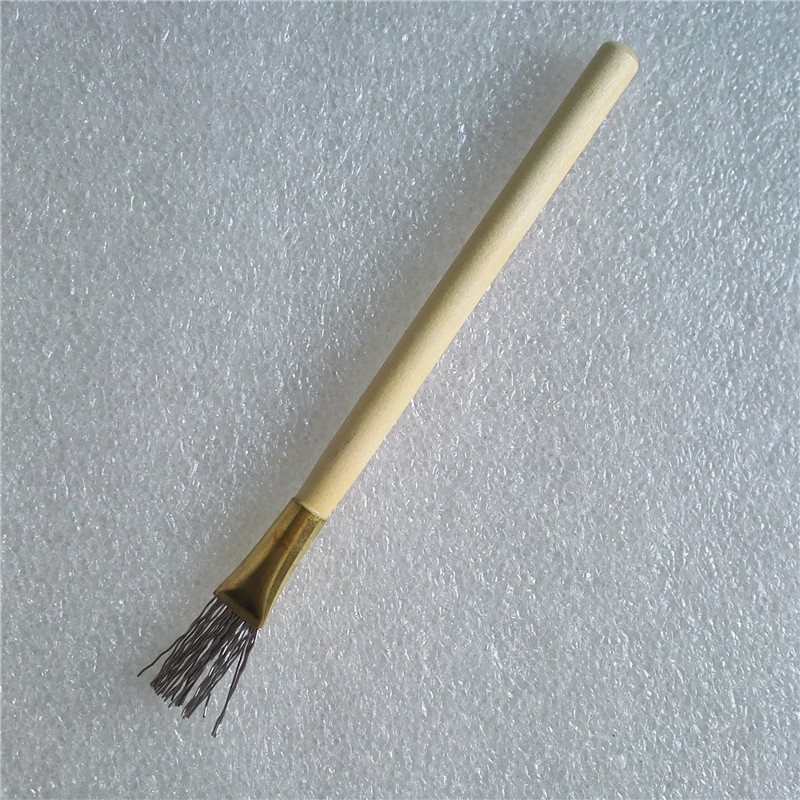 2Pcs Wooden Handle Thick/Thin Iron Wire Brush Clay Tool for Making ...