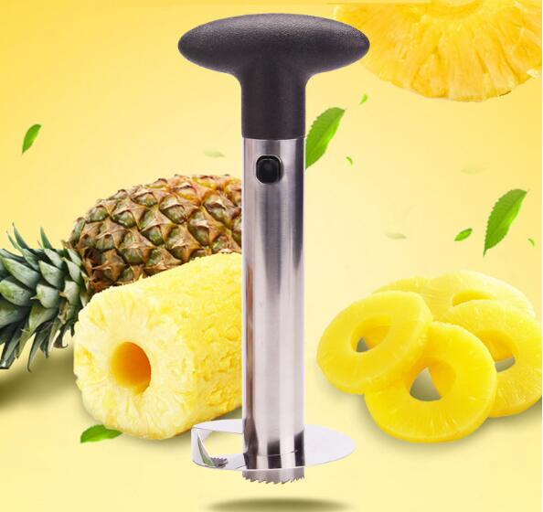 1PC Stainless Steel Pineapple Peeler for Kitchen Accessories Pineapple Slicers Fruit Knife Cutter Kitchen Tools Cooking OK 0737 in Corers from Home Garden