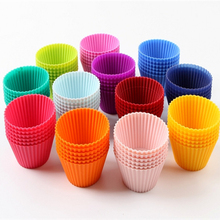 6Pcs/lot Cake Decorating Tools Food Grade Silicone Mold Cup Round Shapes Jelly Pudding Muffin Reusable DIY Baking