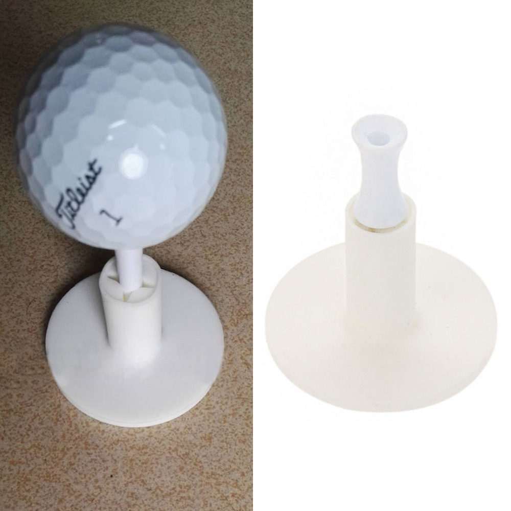 Rubber Golf Tees Holder For Golf Driving Range Tee Practice Tool White title=