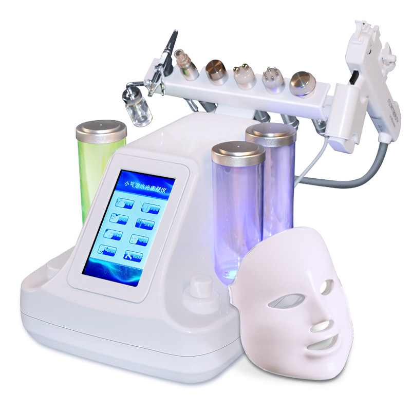 8 in 1 Vacuum Face Pore Cleaning Hydra Dermabrasion Aqua Peeling Skin Rejuvenation Water Oxygen Jet Facial Beauty Machine