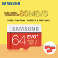 100%Original SAMSUNG EVO+ Memory Card 128GB/64GB/SDXC 32GB/16GB/SDHC Micro SD/TF 80MB/S Class10 Flash Memory Cards Free Shipping