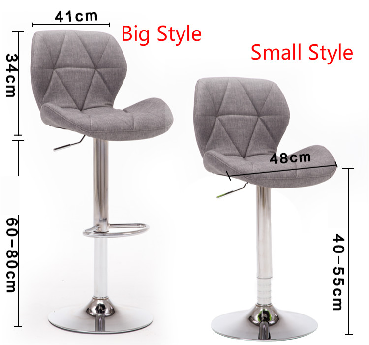 Nice Bar Stools Bar Chair Rotating Lift Backrest Chair High Stools Home Creative Beauty Round Stool Stylish Minimalist Swivel Chair Bar Furniture