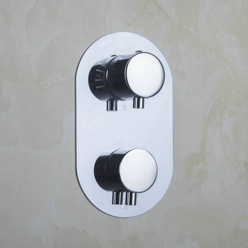 Bathroom Torneira Thermostat Control Valve Bathroom Round Mixing Valve Switch Wall Mount 5523 Bath/Shower Mixer Mixer Tap Faucet yanksamrt bathroom thermostatic control valve shower mixer tap faucet wall mount bathroom shower