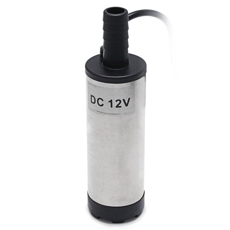 Low Noise DC 12 V 38mm 8700r/min Silber Kraftstoff Auto Öl Elektrische Tauchwasserpumpe Edelstahl