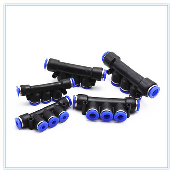 цена на Air Pneumatic Fitting 5 Way One Touch 8mm 10mm 6mm 4mm 12mm OD Hose Tube Push In 5 Port Gas Quick Fittings Connector Coupler