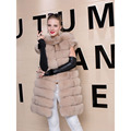 Women Fashion Padded Real Fox Fur Coat Casual Winter Ladies Jacket Outwear Slim Thick Warm Genuine Fox Fur Female Coat Plus Size