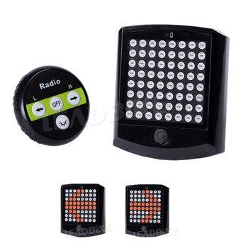Leadbike 2018 64 LED luz trasera de bicicleta con Control remoto inalámbrico bicicleta giro señales seguridad advertencia luz de noche