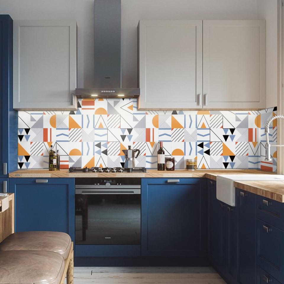 Funlife Nordic Home Decor Modern Bathroom Living Room Wall Sticker For Kitchen Adhesive Tile Pvc Bakcsplash Wallpaper Waterproof Wall Stickers Aliexpress