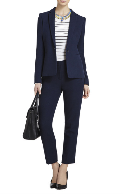 New 2015 Custom Made Navy Formal Women Business Suits Formal Office