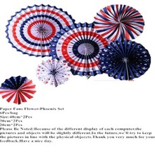 6Pcs Wedding Paper Fans Of The United State Paper Fans For Wedding Tissue Paper Fans Flowers Party