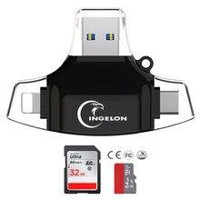 4-In-1 Microsd-Adapter Smartphone-Reader XQD Usb-C Type-C Idragon OTG Carte TF/SD Plus