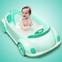 New Baby Items Lying Shower Car Shape Infant Baby Children Bath tub for free gift