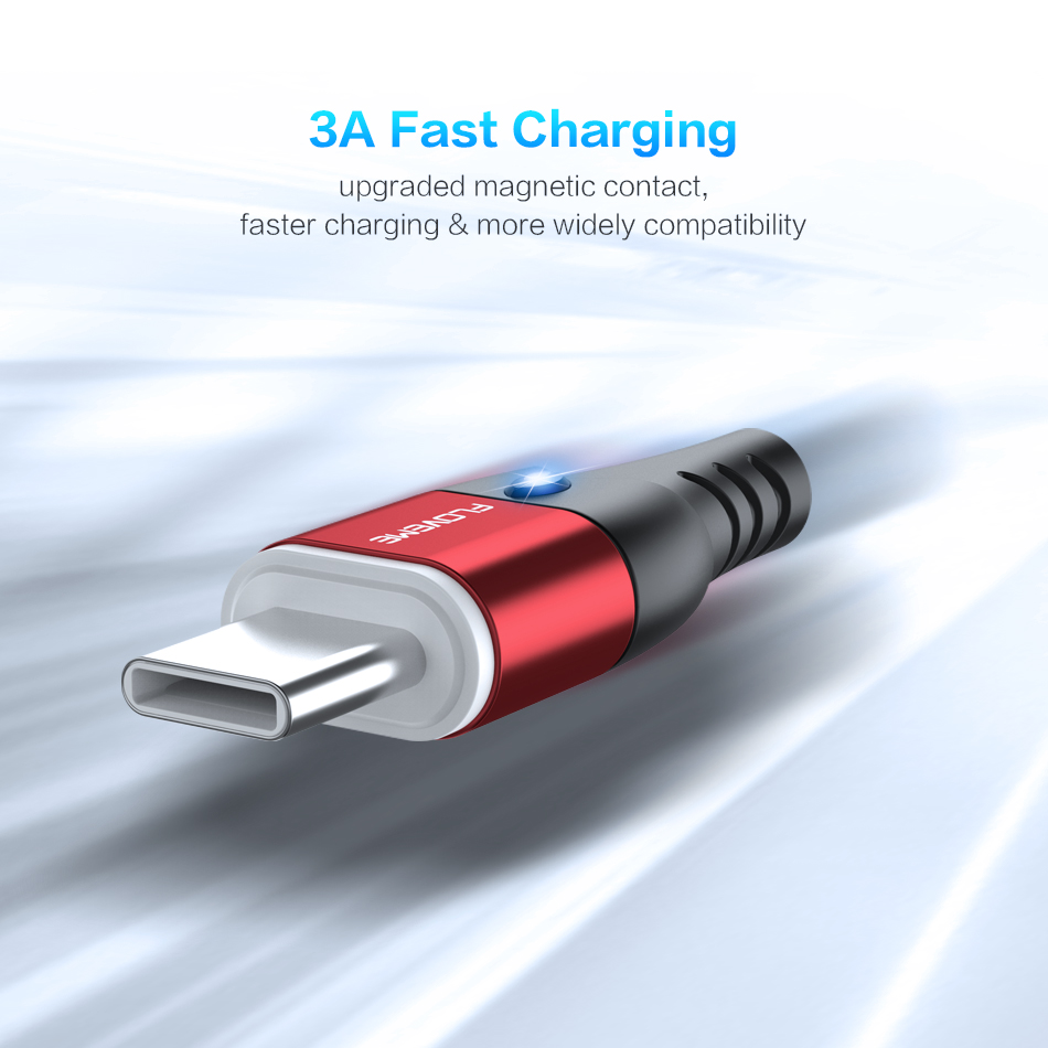 FLOVEME Magnetic Micro USB Type C Lightning Charging Cable For iPhone And Mobile Phones 2