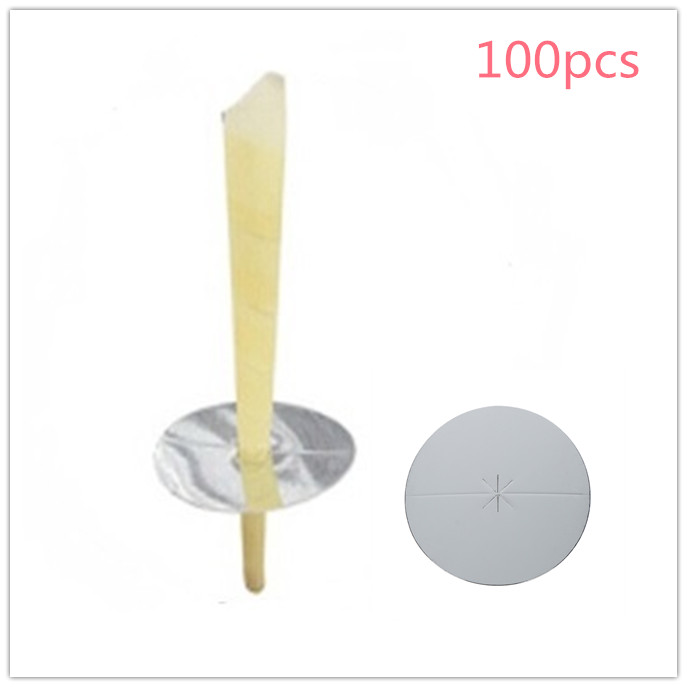 100pcs Disc Plate For Ear Candling For Ear Care Pure Beeswax Candle Thermo Auricular Therapy Straight Style