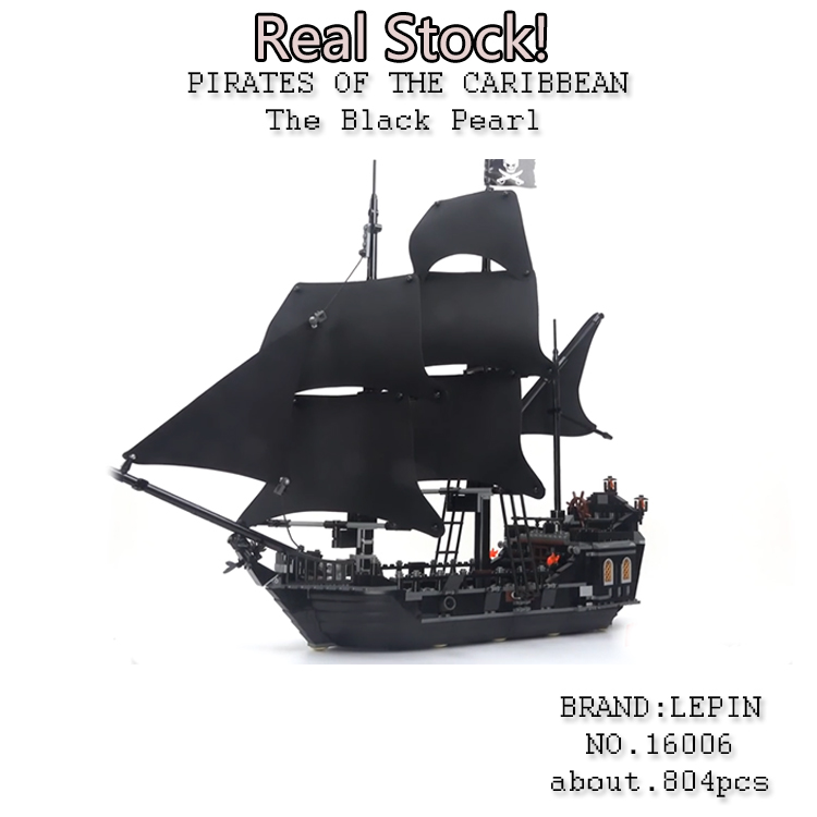 LEPIN 16006 804pcs Pirate ship Pirates of the Caribbean The Black Pearl Building Blocks toys for children Gifts 4184 brinquedos 804pcs pirate series pirates of the caribbean 16006 black pearl model building blocks sets bricks toys compatible with lego