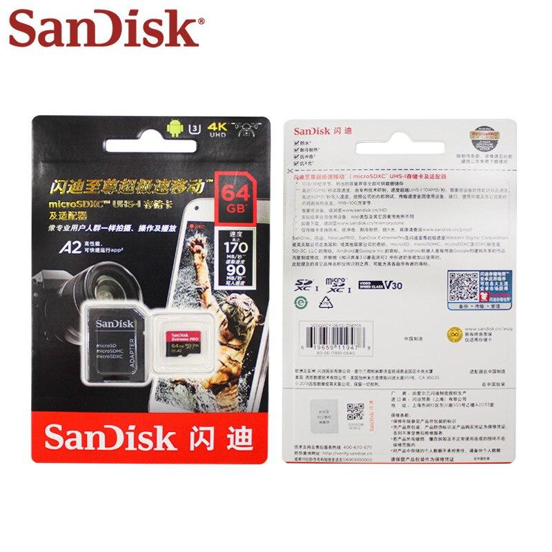 En gros SanDisk Micro carte SD 128GB UHS-I SDXC carte mémoire A2 U3 carte Flash 32GB TF carte 5 + 1 pour téléphone tablette PC - 5