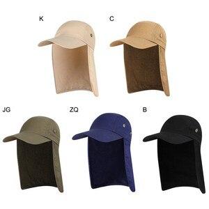 Image 5 - 屋外 UPF 50 ユニセックス速乾性釣り帽子サンバイザーキャップ帽子太陽保護耳ネックフラップカバーハイキング新