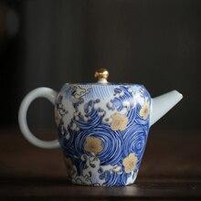 """PINNY """"STARRY NIGHT"""" สีเคลือบกาน้ำชา 150 มิลลิลิตรพอร์ซเลนหม้อชาจีน Kung Fu ชุดชาคุณภาพสูง handpainted ชาบริการ"""