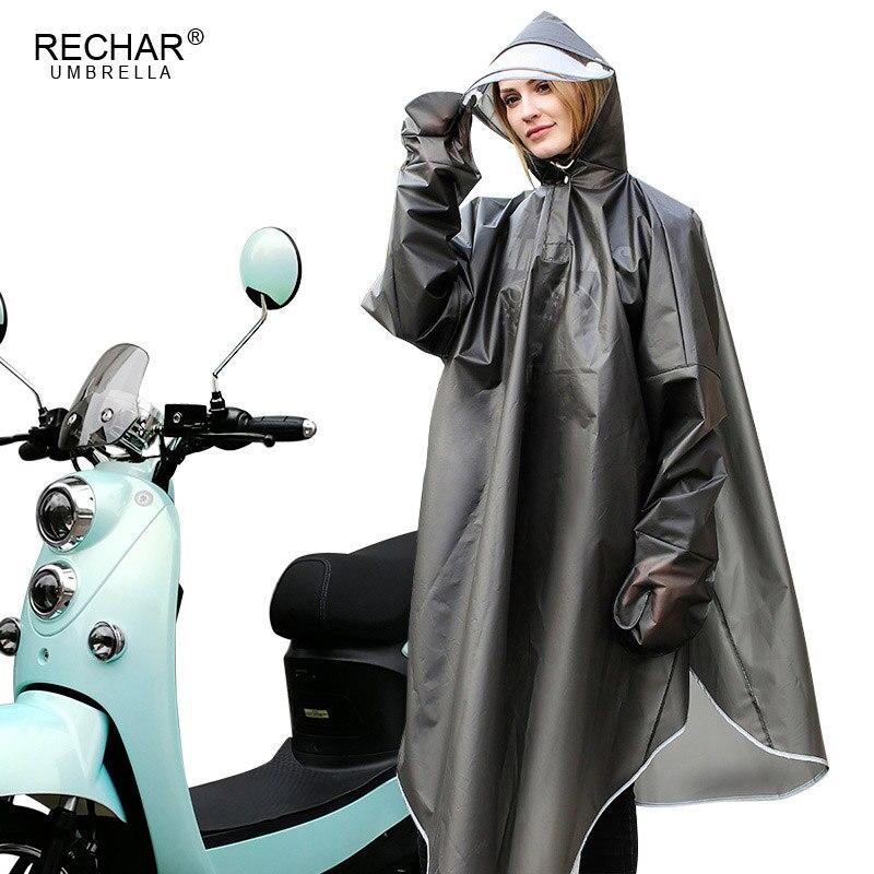 Kreative Mode Grün Gürtel Ärmeln Doppel Kappe Höhlen Elektrische Auto Poncho Fahrrad Reiten Nacht Reflektierende Männer Und frauen Regenmantel